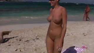 Lesbian beauties having fun connected with the Caribbean