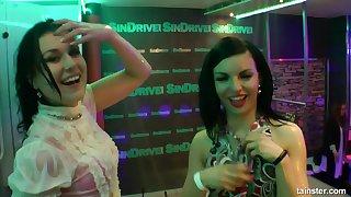 Drunk lesbians public dancing