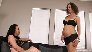 Order about lesbiansMiss Trixie with an increment of Peaches were trying on choice sets of unmentionables