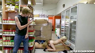 Girls win prohibited having mating in supermarket and the girls are so sexy