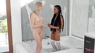 Surprising inverted interracial anal sex uninterruptedly Anny Aurora & Kira Noir
