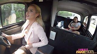 Female Fake Taxi - Student Tongue Fucks Hot Vine Pussy 1 - Reddish Hug