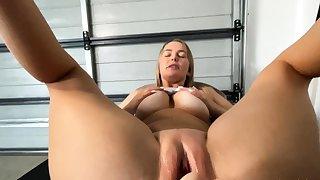 Lesbian Eve Promoter licks big boobs