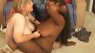 Intense Interracial Lesbian Fucking Session
