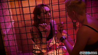 Sensual and wild lesbian strapon sex games with naughty Ryan Keely