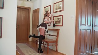 Two French maids having fruity fun - Vinna Reed and Stacy Cruz