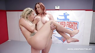 Lesbian wrestling and strapon sex with busty Bella Rossi And Sophia Transform into
