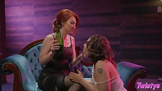 Classy babes Kendra James and Hadley Mason having erotic lovemaking