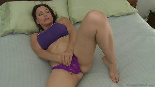 Nicole Moore masturbates and hot Elle Alexandra joins her