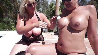 Melody, Devon & Organa's Lesbo Orgy Prevalent The Pool - TacAmateurs