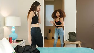 Interracial of either sex gay porn with eccentric Avi Love and Cecilia Lion