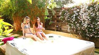 Erotic lesbian sex in outdoors more Ariana Marie and Kota Sky
